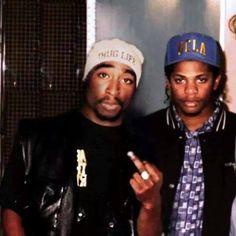 "Tupac Shakur, Eric ""Eazy E"" Wright, Hip-Hop icons Mode Hip Hop, Hip Hop And R&b, 90s Hip Hop, Hip Hop Rap, Hip Hop Images, Tupac Makaveli, Las Vegas Valley, Straight Outta Compton, Tupac Shakur"