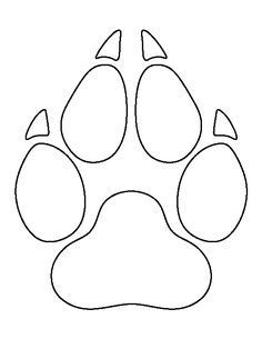 outline of a wolf Stencil Patterns, Print Patterns, Wolf Outline, Wolf Paw Print, Wolf Craft, Cub Scouts Wolf, Rock Painting Designs, Wolf Tattoos, Print Templates