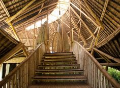 Temple View House | Ibuku Bamboo Architecture, Organic Architecture, Bamboo Village, Home Temple, Temple House, Bamboo Structure, Bamboo Construction, Pavilion Design, Bamboo House