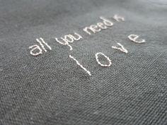 lulu les petits pois: serviettes + petits mots