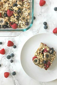 Easy make ahead oatmeal recipes Make Ahead Oatmeal, Make Ahead Breakfast, Breakfast Recipes, Yummy Oatmeal, Oatmeal Cream, Breakfast Bars, Breakfast Ideas, Oatmeal Casserole Recipe, Baked Oatmeal Recipes