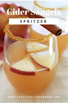 cider sangria | cider spritzer | cider drink alcohol | cider drink recipe | sangria recipes | sangria
