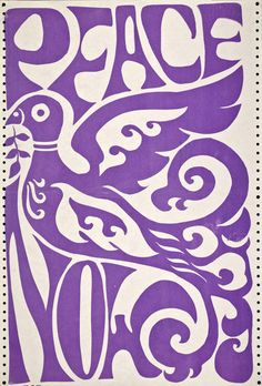 ☮ American Hippie Art Quotes ~ Peace Now poster .. purple