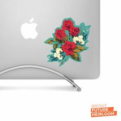 Rose Flower Arrangement 01 - Printed Vinyl Decal - Perfect For laptops tablets cars trucks SUVs and more! by BrightFutureHeirloom
