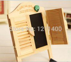 Online Shop Grátis frete dom gratuito 2014 novo do obturador de madeira placa de boletim placa da mensagem negro fundo adereços home office|Aliexpress Mobile