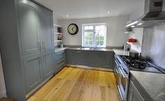 Open Plan Kitchen Diner grey cabinets