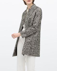 ZARA - WOMAN - BLACK BOUCLE COAT