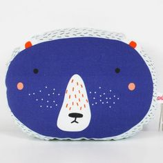 mini cushion bear - blue