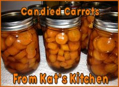 Candied Carrots Making candied carrots is quick and easy to do. Yields 6 to 7 pints Ingredients: 5 to 6 pounds of carrots 3 cups. Candied Carrots, Glazed Carrots, Carrot Recipes, Vegan Recipes, Cooking Recipes, Pressure Canning Recipes, Canning Tips, Freezing Fruit, Canning Vegetables