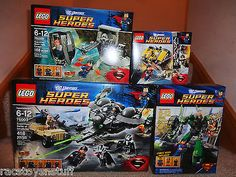 DC SUPER HEROES LOT OF 4 DIFFERENT SUPERMAN LEGO SETS, ALL MISB,