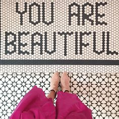 You are beautiful Bathroom Floor Tiles, Bathroom Kids, Tile Floor, Master Bathroom, Interior Styling, Interior Decorating, Decorating Bathrooms, Interior Design, Penny Tile