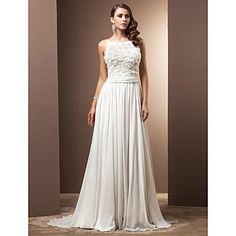 correas A-Line/Princess tribunal tren vestido de novia – USD $ 197.99