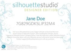 Silhouette America - Silhouette Studio Designer Edition is the version of software made especially for designers, including more features to help designers import their own artwork...