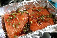 Baked Asian Sesame Salmon