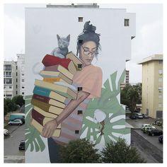 New street art mural perspective Ideas Urban Street Art, 3d Street Art, Street Artists, Graffiti Murals, Art Mural, Graffiti Artists, Graffiti Lettering, Street Art Banksy, Sidewalk Chalk Art
