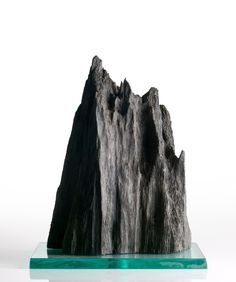 SOLD Bog oak mountain peak...Adrian Swinstead