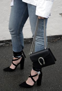 Gucci Dionysus black bag, Windsor Smith, Minimal outfit Street style Bykrog Cecilie Krog