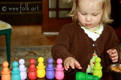 Wee Folk Art- color matching people and bowls!  SO cute!  Great for many different skills.
