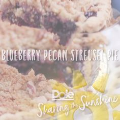 This Blueberry Pecan Streusel Pie is the perfect dessert any time of day!