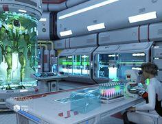 Sci-fi Lab Props is a interior, Sci-Fi/futuristic for Daz Studio or Poser created by DAZ Originals and Petipet. Spaceship Interior, Futuristic Interior, Futuristic Art, Futuristic Technology, Technology Design, Medical Technology, Cool Technology, Futuristic Architecture, Technology Humor