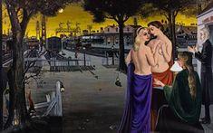 Paul Delvaux - Le Veilleur III ou Horizons, 1962. Oil on canvas