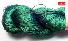 Items similar to Viscose Silk Yarn Ajur. on Etsy Irish Crochet, Crochet Yarn, Pdf Patterns, Crochet Patterns, Knitting Supplies, Woven Bracelets, Emerald Green, Blue Green, Craft Supplies