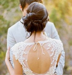 I love everything about this photo #lace #hair #bridalhair