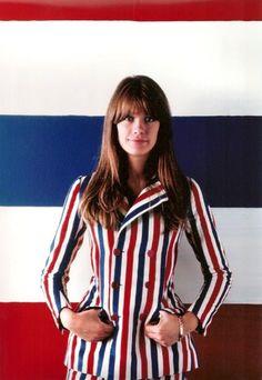 Françoise Hardy en mode 14 juillet