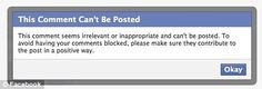 Comments DENIED: Now Facebook stops users making 'irrelevant' posts  ... Freedom of Speech is disappearing right before our eyes... Our Guns, Our Speech , our freedoms.... our way of life... SAD!