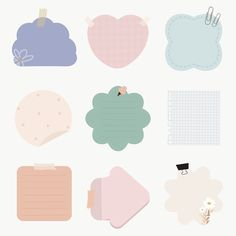 Set of notepaper on transparent | premium image by rawpixel.com / Chayanit Stickers Kawaii, Cute Stickers, Journal Stickers, Planner Stickers, Mini Drawings, Good Notes, Bullet Journal Ideas Pages, Note Paper, Writing Paper