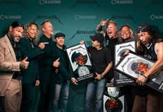 """98.4k Likes, 681 Comments - Metallica (@metallica) on Instagram: """"Blackened Recordings executives are seen here presenting platinum awards to Blackened Recordings…"""""""