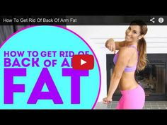 How To Get Rid Of Back Of Arm Fat - VIDEO - Natalie Jill Fitness