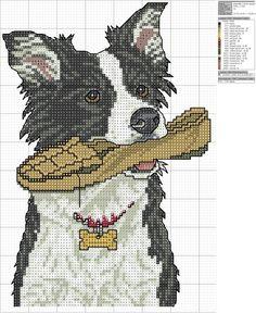 Cane cucciolo animali punto croce