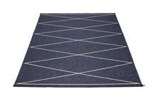 Max large rug darkblue from Pappelina by Lina Rickardsson