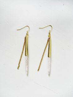 White turquoise spike earrings by KimDulaney on Etsy, $32.00