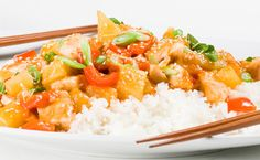 Sweet and Sour Chicken - Farmers' Almanac Epicure Recipes, Asian Recipes, Beef Recipes, Ethnic Recipes, Apricot Chicken, Sweet Sour Chicken, Orange Chicken, Chicken Rice, Easy Healthy Recipes