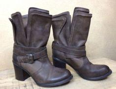 BCBG BCBGeneration Womens BG-Bekki Layered Cuff Ankle Boot Shoe Brown 5 1/2B    eBay