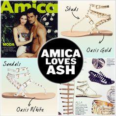 #Amica #loves #Ash! #AshItalia propone una versione #glamorous del #sandalo alla schiava: #OasisGold!