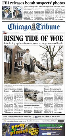 April 19, 2013: FBI releases bombing suspects' photos. And a day of record rain and flooding across Chicagoland.
