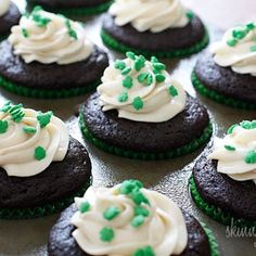 Chocolate Stout Cupcakes With Bailey's Irish Cream Cheese Frosting from Skinnytaste