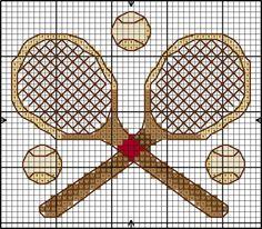 "Borduurpatroon ""Overig"" Kruissteek *Embroidery Cross Stitch Pattern ~Tennis~"