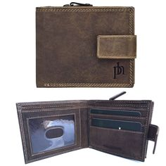 NEW Prime Hide Stylish Hunter Brown Leather Wallet New 8504
