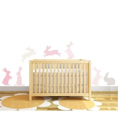 I've just found Rabbit Fabric Wall Stickers. 7 Stunning textured rabbit wall stickers by Littleprints. Baby Wall Stickers, Beautiful Rabbit, Elephant Fabric, Baby Room Themes, Pink Rabbit, Baby Bedroom, Girl Nursery, Nursery Ideas, Living Room Inspiration