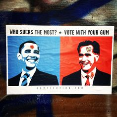 STREET ART UTOPIA » We declare the world as our canvasGum Election 2012 » STREET ART UTOPIA