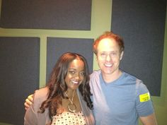 Chance meeting at Technicolor of Ash (Kimberly Brooks) and Kaidan (Raphael Sbarge). From @RaphaelSbarge's Twitter feed.