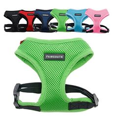 FAIRSOUTH Soft Air Mesh Harness for DogsPuppies ** See this great product.Note:It is affiliate link to Amazon.