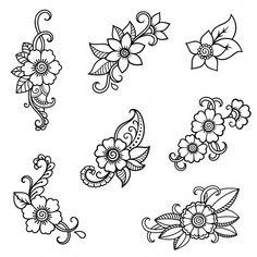 Henna tattoo flower template. mehndi sty... | Premium Vector #Freepik #vector #flower