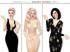The Sims Resource: Golden Globes 2016 – Dresses by itsleeloo • Sims 4 Downloads