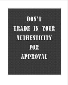 Authenticity wall art inspirational quotes by covingtonstreet, $18.00