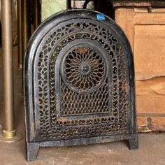 Cast Iron Fireplace Summer Font Cover - Columbus Architectural Salvage
